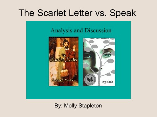 the scarlet letter vs speak free books childrens stories online storyjumper