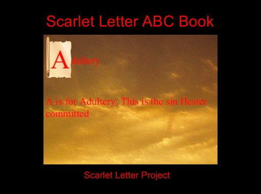 scarlet letter abc book free books childrens stories online storyjumper