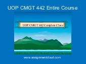UOP CMGT 442 Entire Course