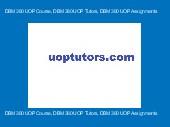 DBM 380 UOP Course, DBM 380 UOP Tutors, DBM 380 UOP Assignments