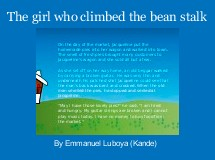 The girl who climbed the bean stalk