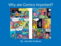 Why are Comics Important?