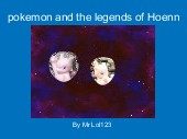 pokemon and the legends of Hoenn