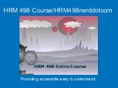 HRM 498 Course/HRM498nerddotcom