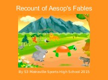 Recount of Aesop's Fables