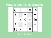 Puzzles and Magic Squares