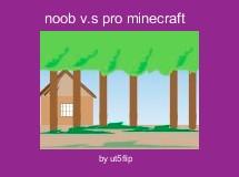 noob v.s pro minecraft