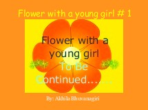 Flower with a young girl # 1
