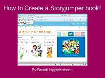 How to Create a Storyjumper book!