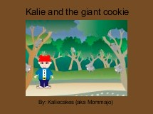 Kalie and the giant cookie