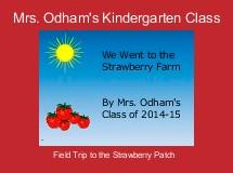 Mrs. Odham's Kindergarten Class