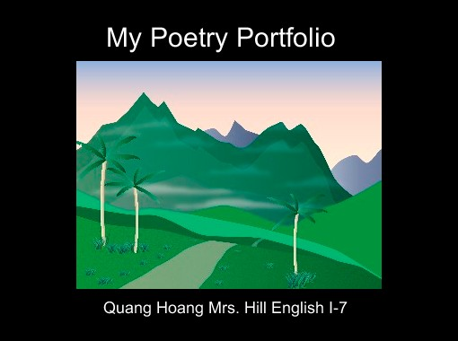 My Poetry Book Cover ~ Quot my poetry portfolio free books children s stories