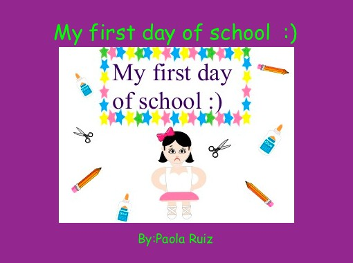 My First Day Of School Free Books Childrens Stories Online