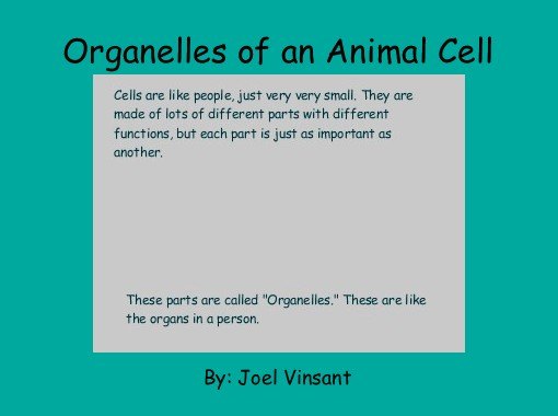 Quot Organelles Of An Animal Cell Quot Free Books Amp Children S
