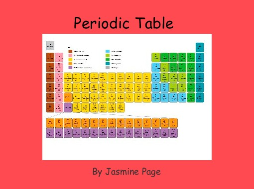 Periodic table free books childrens stories online storyjumper periodic table free books childrens stories online storyjumper urtaz Gallery