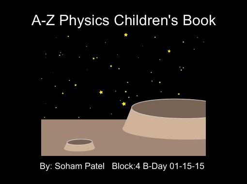 A-Z Physics Children's Book