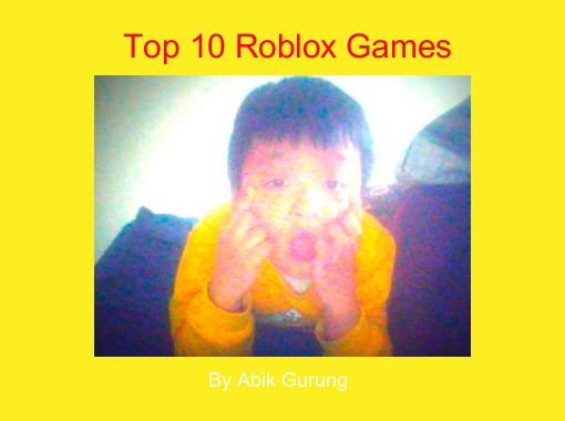 """Top 10 Roblox Games"" - Free Books & Children's Stories ..."