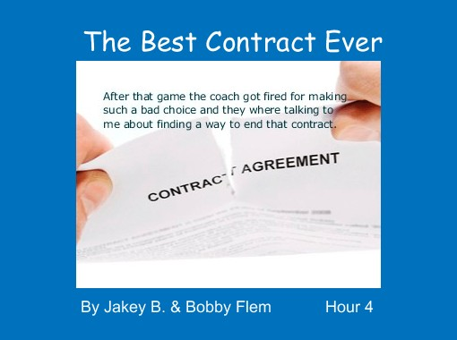 The Best Contract Ever Free Books Childrens Stories Online - Make a contract online free