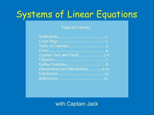 Systems of Linear Equations\