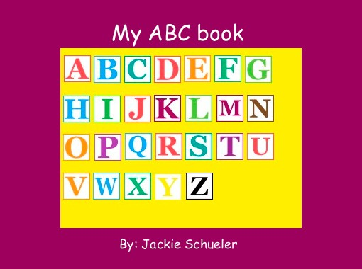 My Alphabet Book Printable Cover : Quot my abc book free books children s stories online