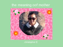 the meaning oof mother