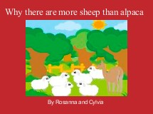 Why there are more sheep than alpaca