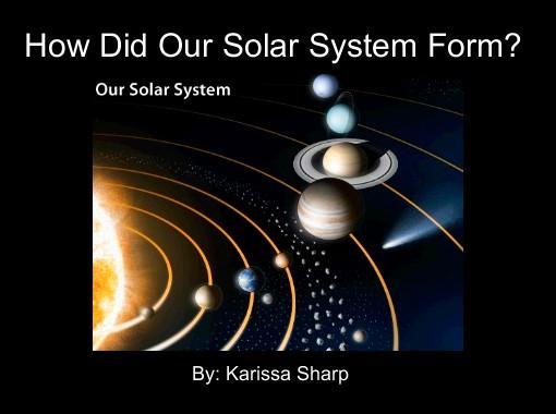 how do solar systems form - photo #7