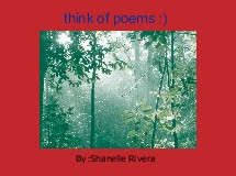 think of poems :)