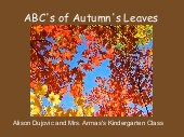 ABC's of Autumn's Leaves