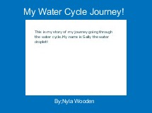 My Water Cycle Journey!