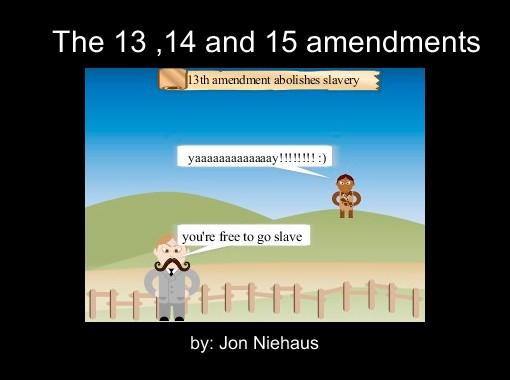 """The 13 ,14 and 15 amendments"" - Free Books & Children's ..."