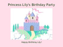 Princess Lily's Birthday Party