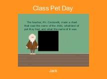 Class Pet Day