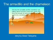 The armadillo and the chameleon