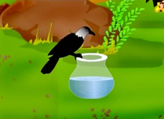 clever crow story in hindi