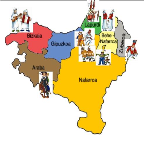 Image result for euskal inauteriak mapa